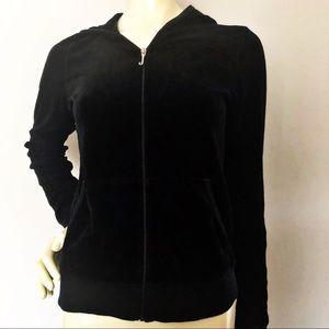Vintage Juicy Couture Hoodie Luxe Velour Black